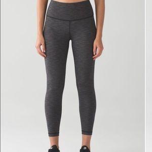 🍋lululemon HR Heathered leggings ❤️Like new!